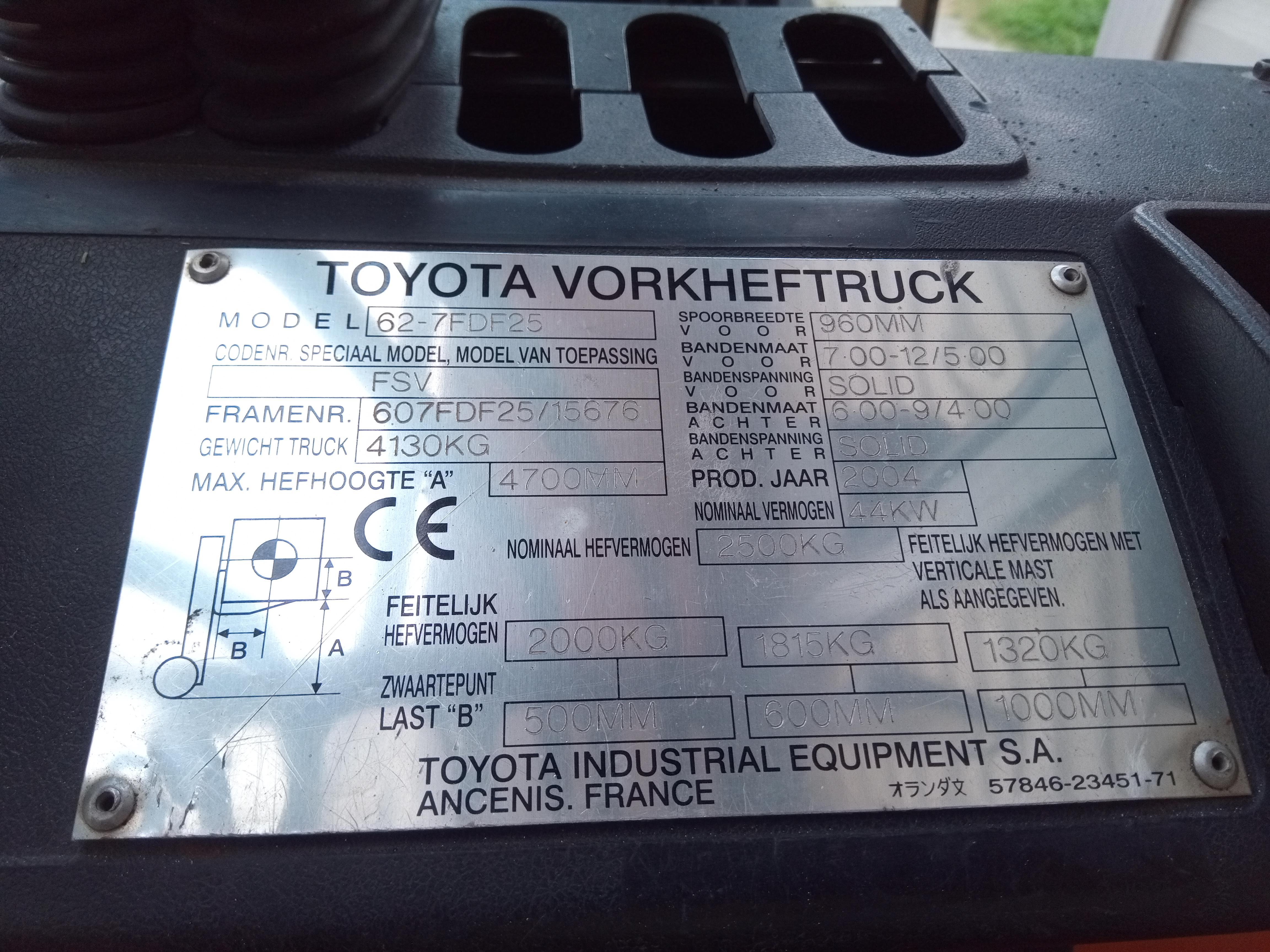 Vysokozdvižný vozík Toyota 62-7FDF25