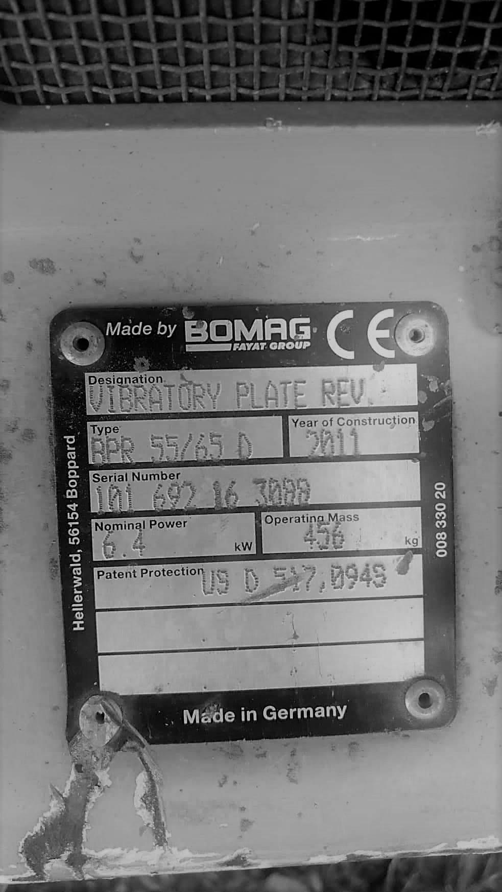 Reverzní vibrační deska Bomag BPR 55/65 D