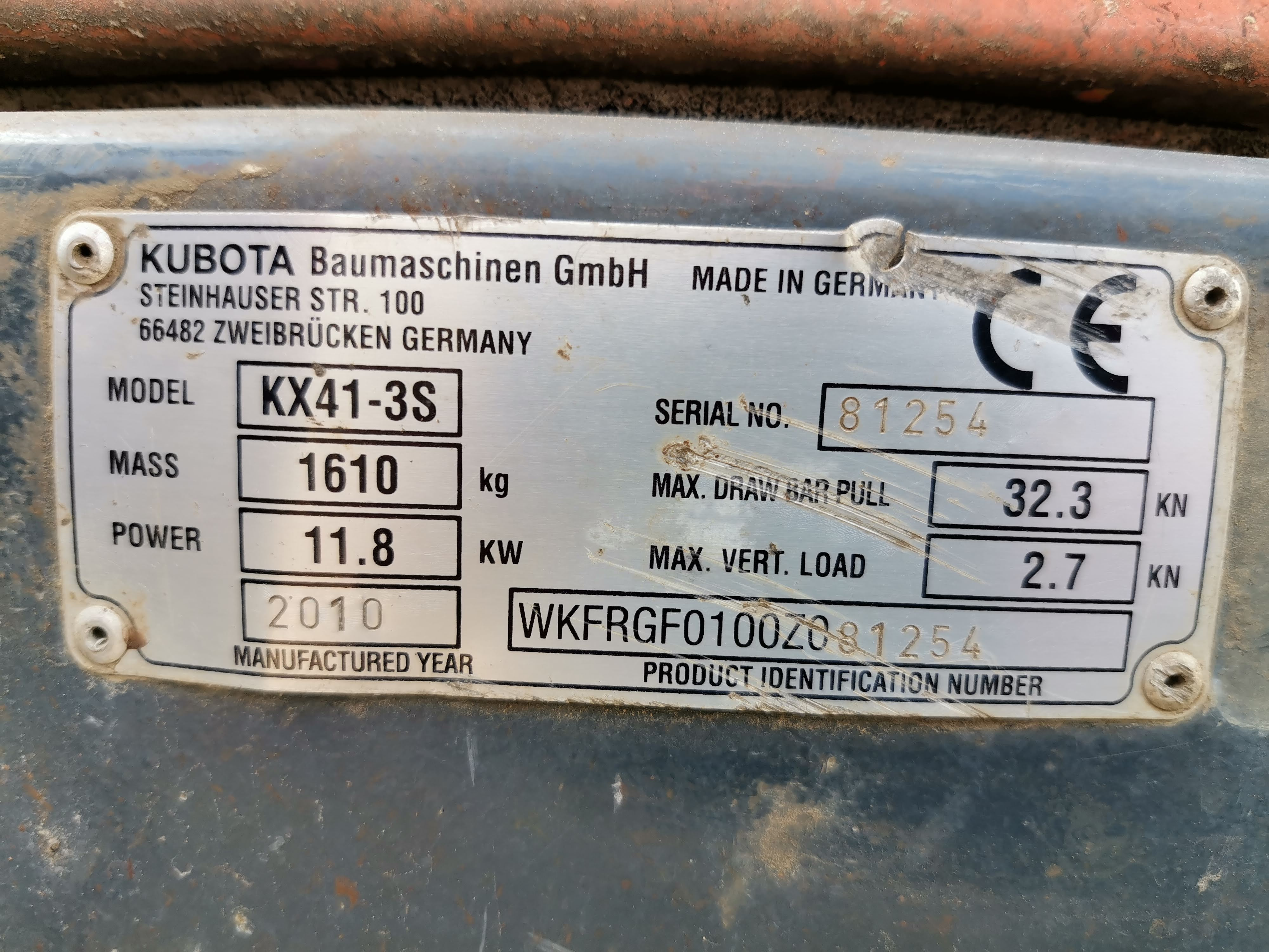 Minibagr Kubota KX41-3S